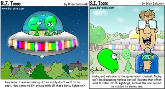BZToons UFO and Aliens