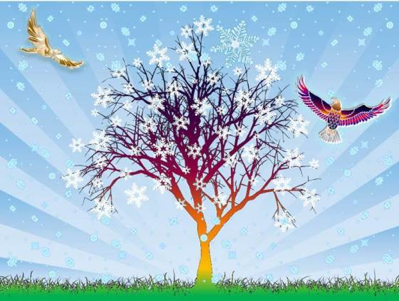 SoundEagle in Art, Poem, Tree and Snowflakes