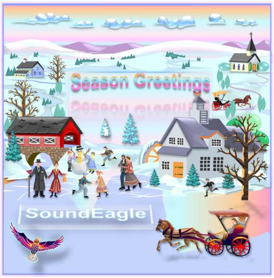 SoundEagle in Art, Society, Community, Winter Scene and Season Greetings