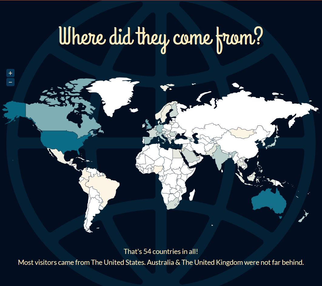 2012 Global Map of Visitors to SoundEagle