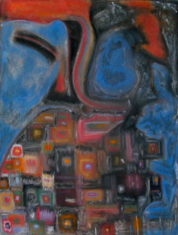 Babylon – 18″ x 24″. chalk pastel on paper. 2010. (Drwg #9)