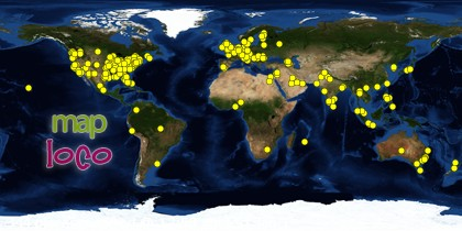 Global Map of Visitors to SoundEagle from 25 August 2012 to End of 2012
