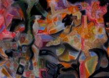 Night Dance – 18″ x 24″. chalk pastel on paper. 2010. (Drwg #10)