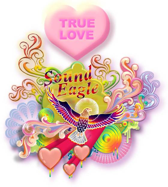 SoundEagle in True Love, Three Hearts and Swirls of Gypsy Delight