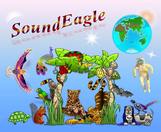 SoundEagle in Biomusic, Biosphere, Ecology, Flora, Fauna, Astronaut, Earth, Moon, Sun, Star and Space