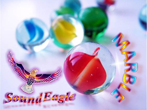 SoundEagle in Marble as Decorative Collectible, Art Glass, Toy and Computer Game