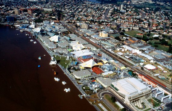 Aerial photograph of the World Expo 88 site