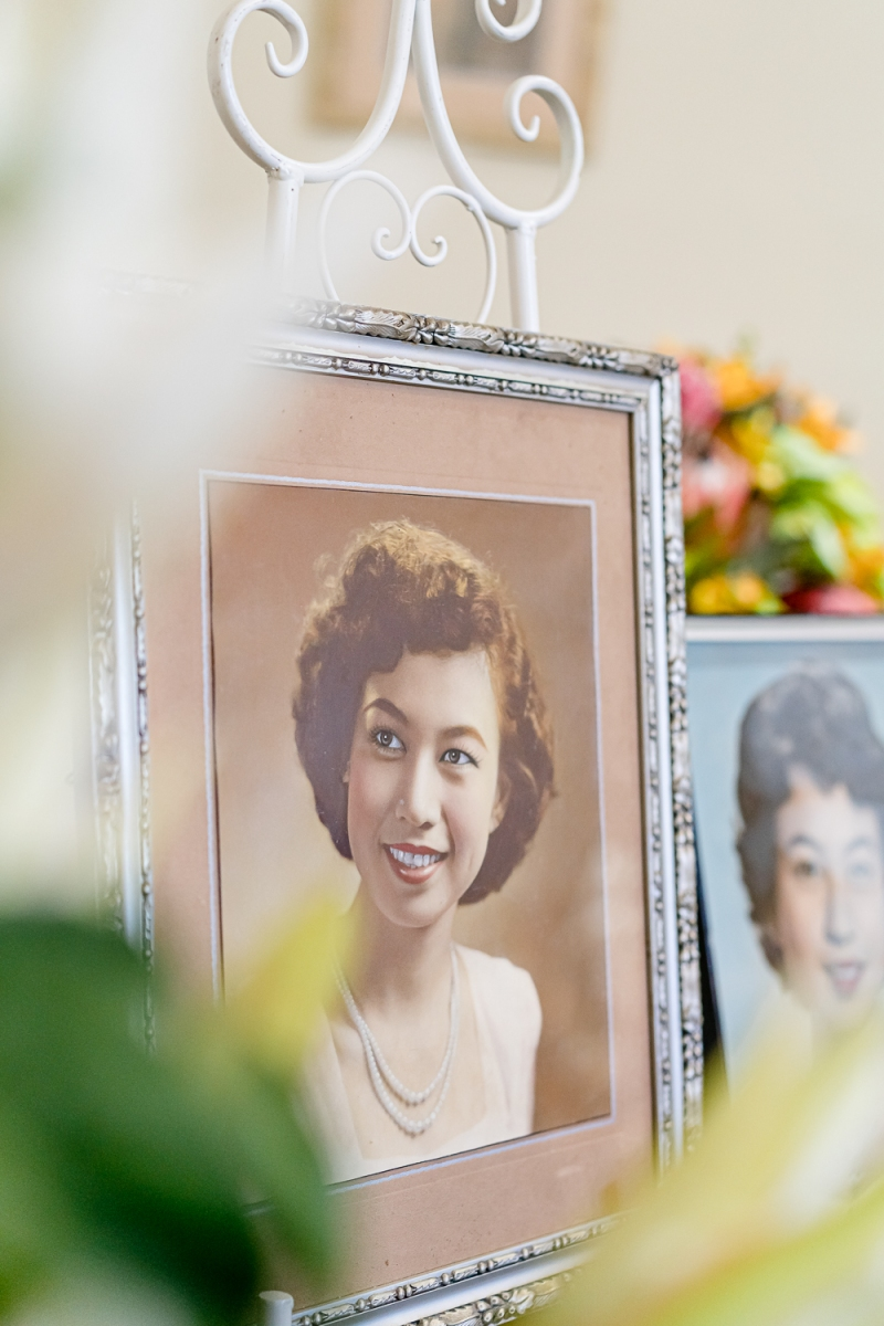 Framed 1955 Photo Displayed by Khai at Khim's Funeral (31 Aug 2019, 9:35 AM Saturday)