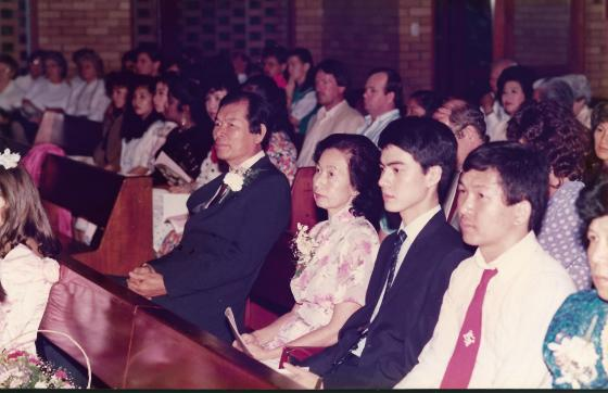Khai & Khim at the wedding of her eldest son and daughter-in-law (17 Dec 1988, Saturday)