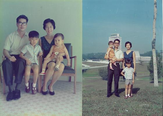 Khim and Her Young Family at Home and Out (Feb 1968)