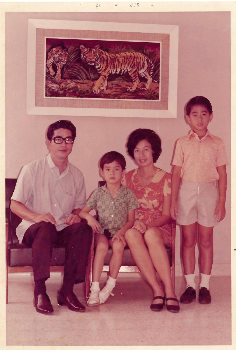 Khim and Her Young Family at Home (Sep 1972)