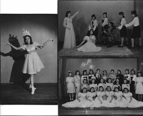 Khim as the Swan🦢Princess in a School Fete Production of Swan Lake (1947)