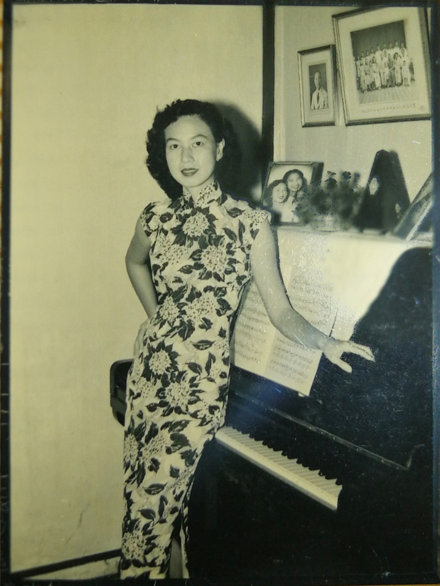 Khim as a Young Adult Learning Piano in Her Early 20s