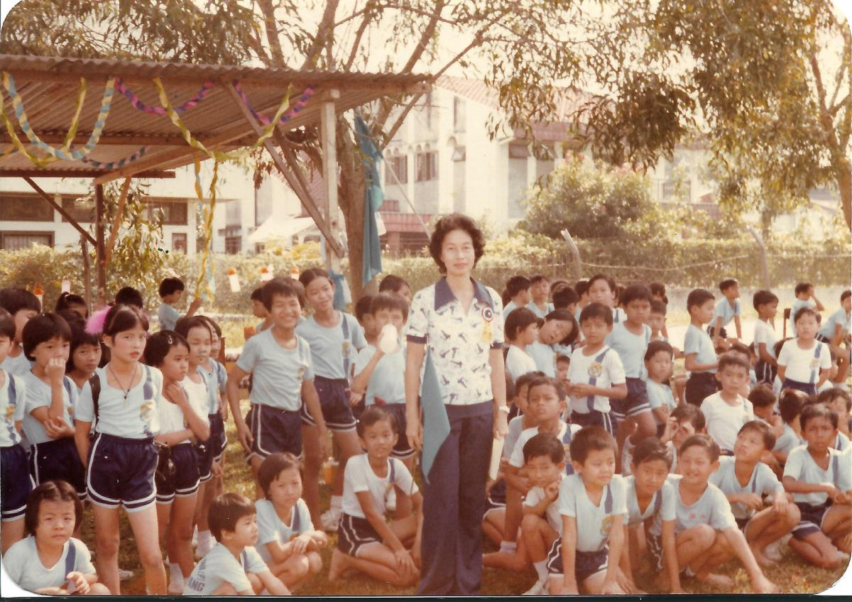 Khim at the Sports Competition of Her School (1983)
