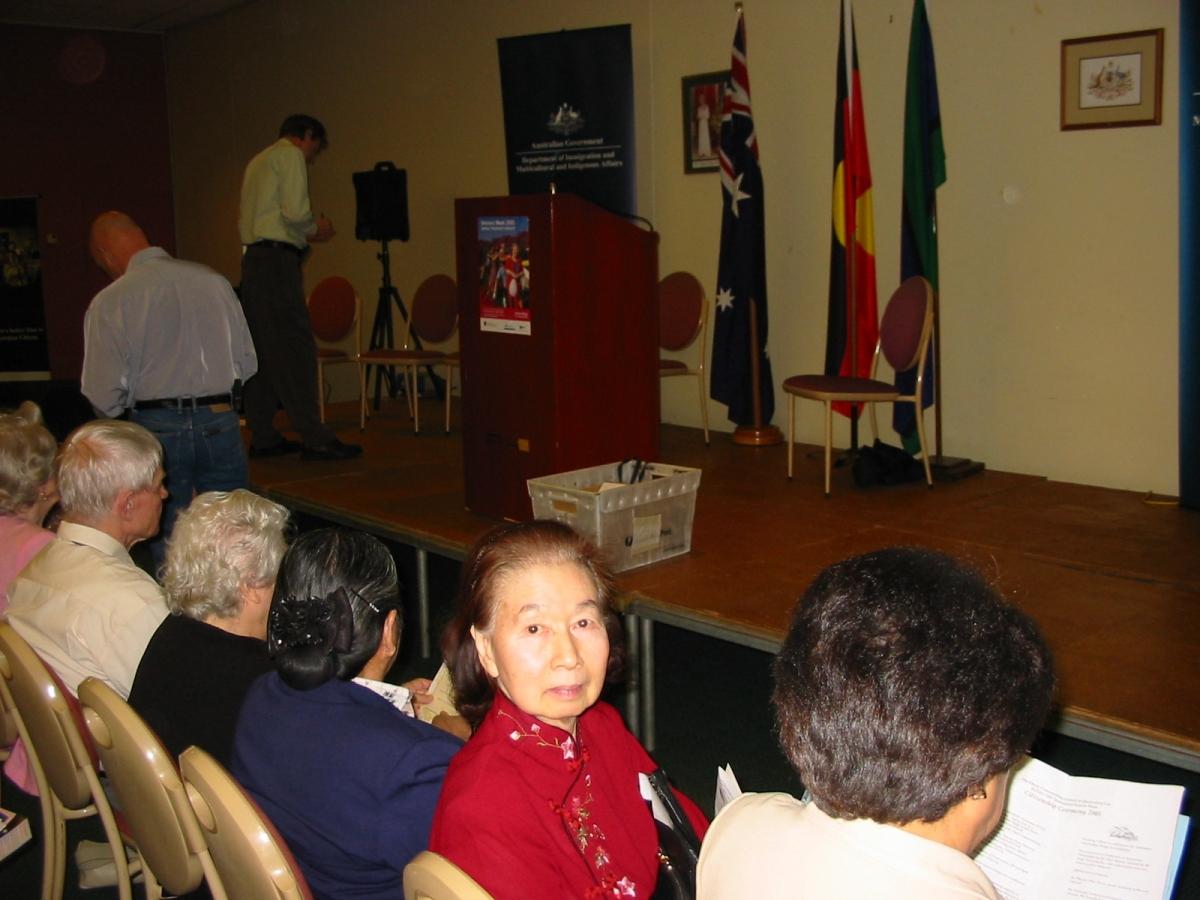 Khim becoming an Australian citizen on Friday, 26 August 2005, 11:01 AM