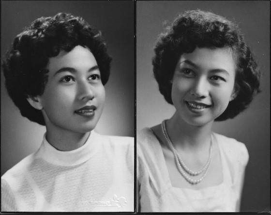 Khim at 24 Looking Like Leslie Caron and Queen Elizabeth II (1955)