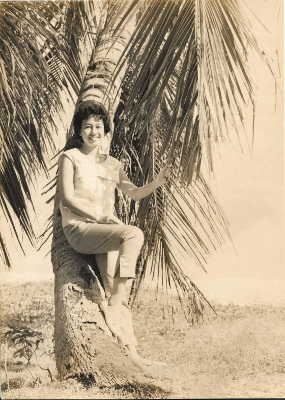 Khim under a coconut tree (16 Aug 1960)