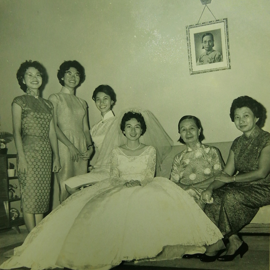 Khim's Wedding Day with Her Mother and Sisters (2 April 1961)