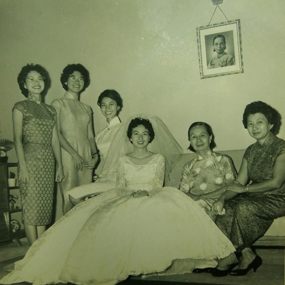 Khim's Wedding Day with Her Mother and Sisters (2 April 1961 Sunday)