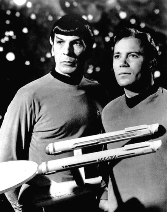 Leonard Nimoy and William Shatner in Star Trek (12 Jan 1968)