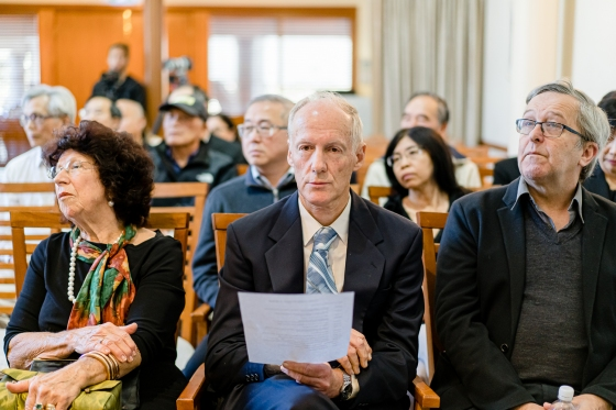 Patricia Walker, Dr Craig Eisemann and Prof. Stephen Emmerson at Khim's Funeral (31 Aug 2019, 10:40 AM Saturday)