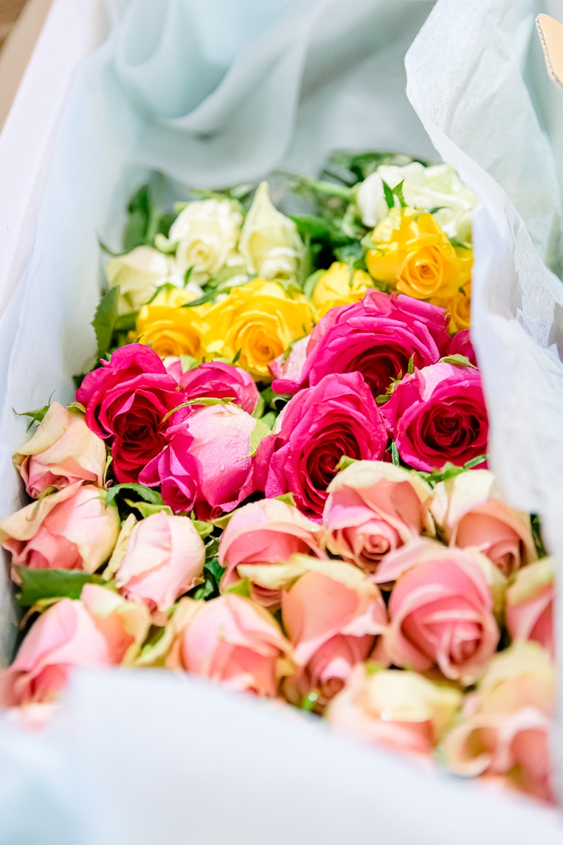 White, Yellow, Red and Pink Roses to be put by the Attendees into Khim's Coffin at the Funeral Ceremony (31 Aug 2019, 9:28 AM Saturday)