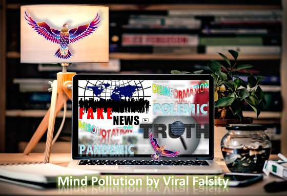 Misquotation Pandemic and Disinformation Polemic: Mind Pollution by Viral Falsity and Fake News